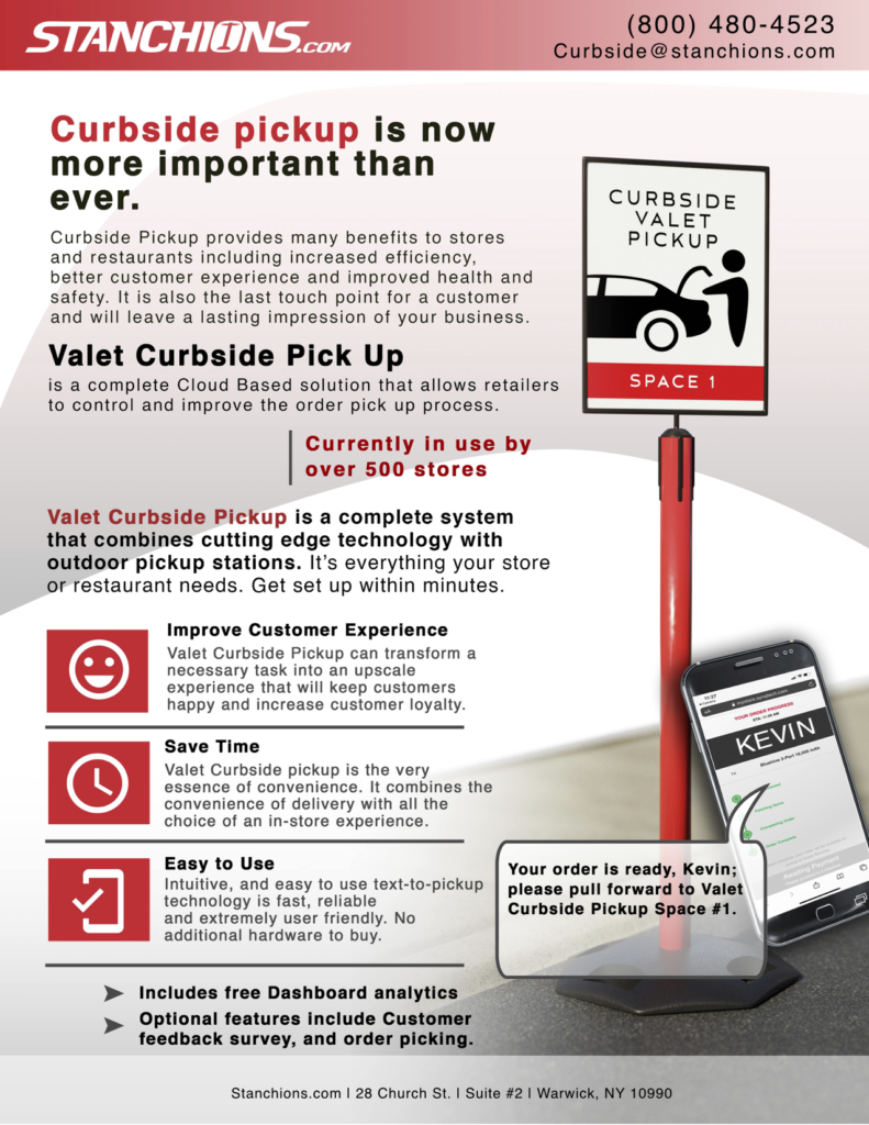 Stanchions.com now offers curbside pickup. Click image for more details.