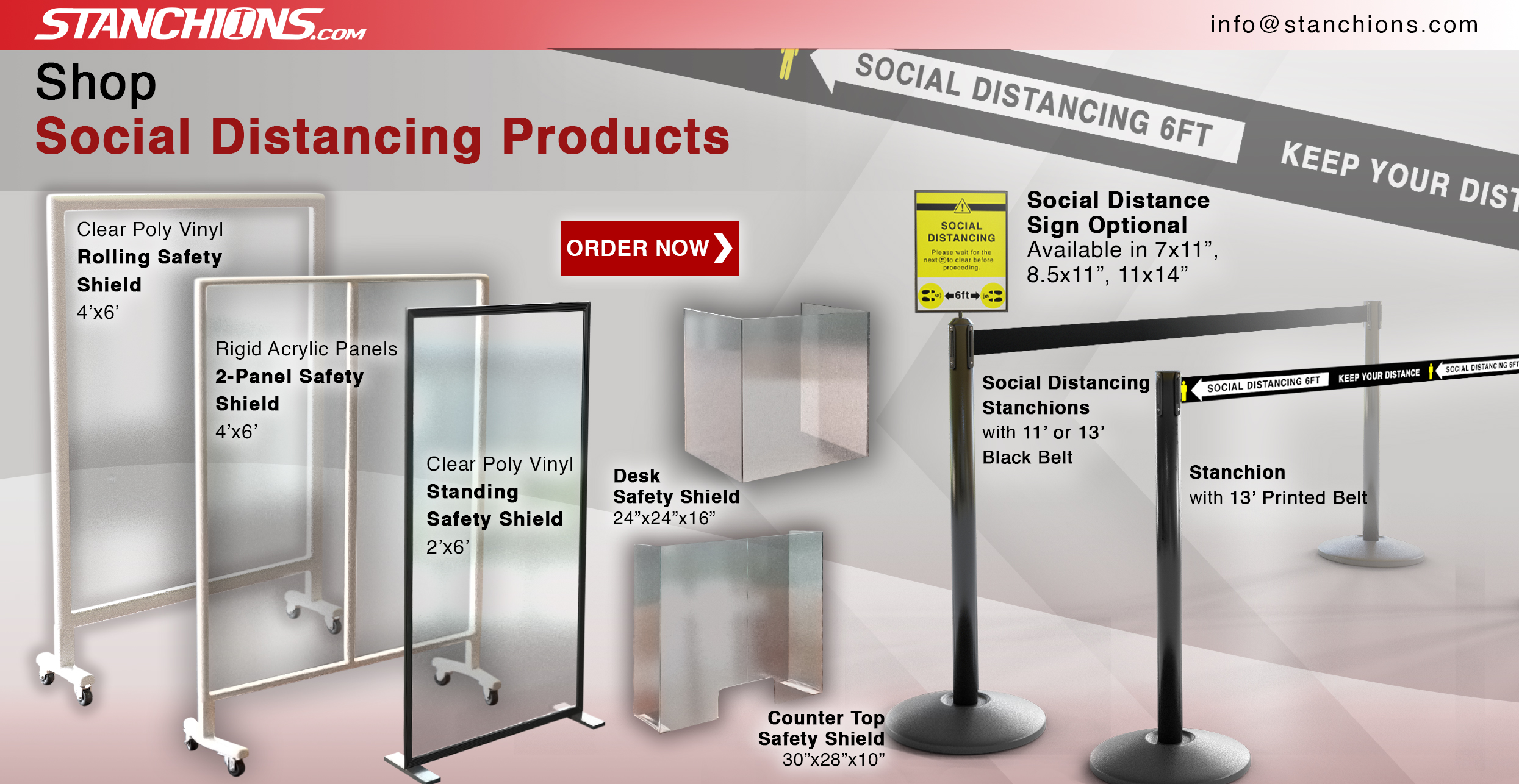 Shop our variety of social distancing products.